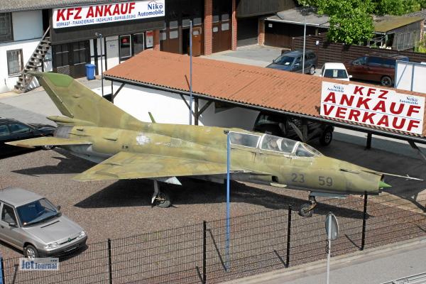 Blick von oben auf die MiG