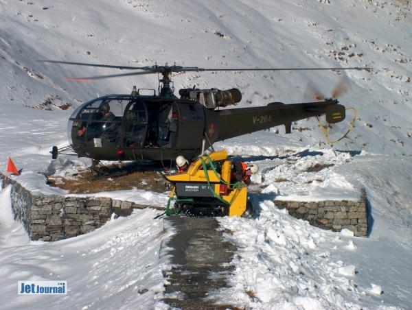 Alouette III auf dem Schießplatz Ebenfluh/Axalp